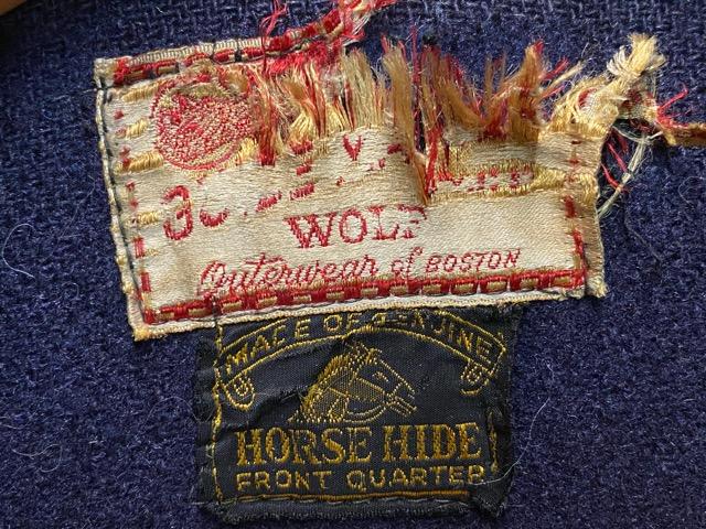 """2月5日(水)マグネッツ大阪店ヴィンテージ入荷!!#1 Leather編! 30\'s\""""HERCULES\""""Horsehide & 40\'s\""""GUIDE MASTER WOLF\""""Horsehide!!_c0078587_027951.jpg"""