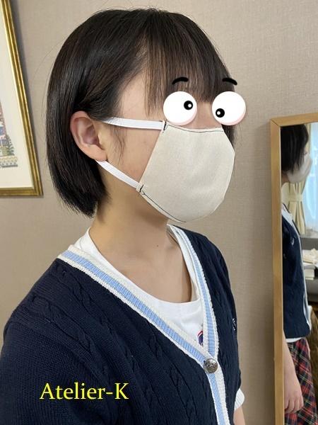 立体マスク作るときもトワル仮縫いです^^。_c0319009_21333826.jpg