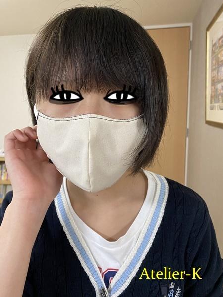 立体マスク作るときもトワル仮縫いです^^。_c0319009_21334910.jpg