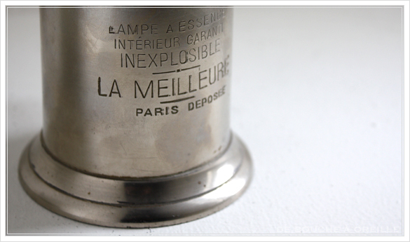 "lampe a essence \""LA MERVEILLEUSE\"" 古いオイルランプ ピジョン フランスアンティーク_d0184921_15591627.jpg"
