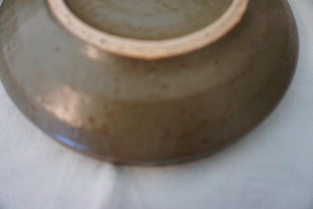 萩原千春さんのお皿 フォレストグリーン_b0132442_15404114.jpeg