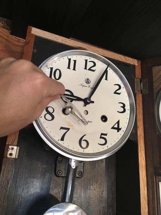 大きくない、のっぽでもない、古時計。_d0386342_09253775.jpg