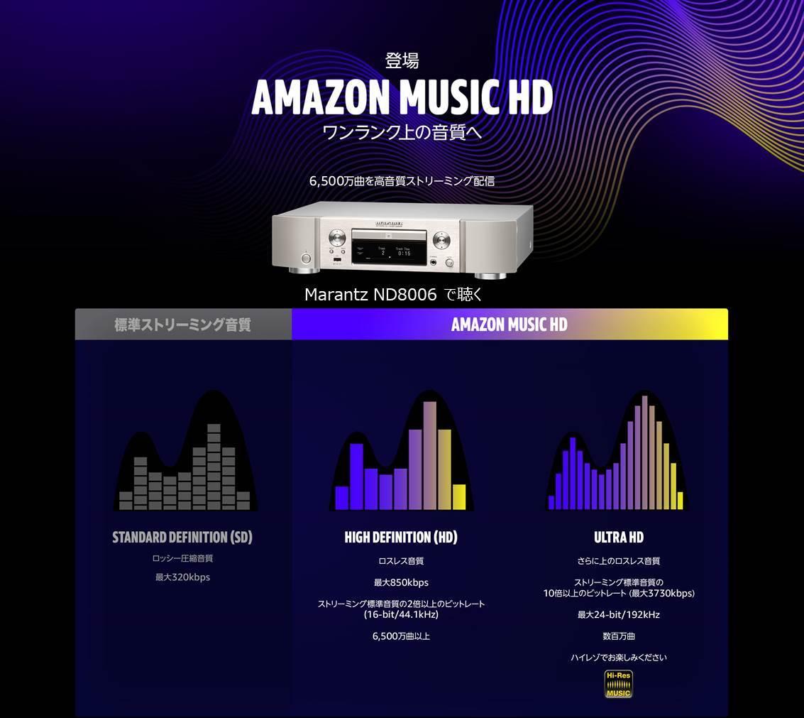 マランツのネットワークプレーヤー ND8006 で Amazon Music HD を聴く。_b0292692_14090215.jpg