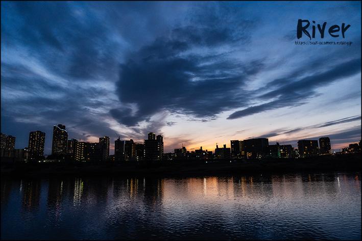 多摩川で日が暮れて_f0100215_20303755.jpg