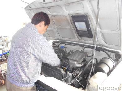 JA12Vジムニー 車検整備中(´O`)_c0213517_15055640.jpg