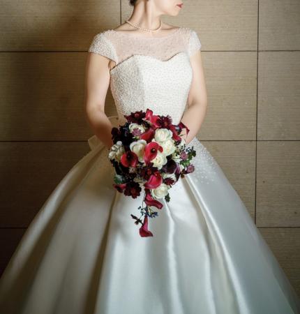 卒花嫁様アルバム ホテル椿山荘東京の花嫁様へ     和装ダリアのブーケ_a0042928_16524144.jpg