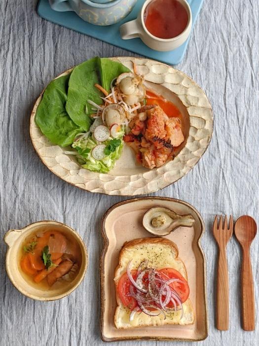 チキンのトマト煮朝ごはん_b0277136_22323635.jpeg