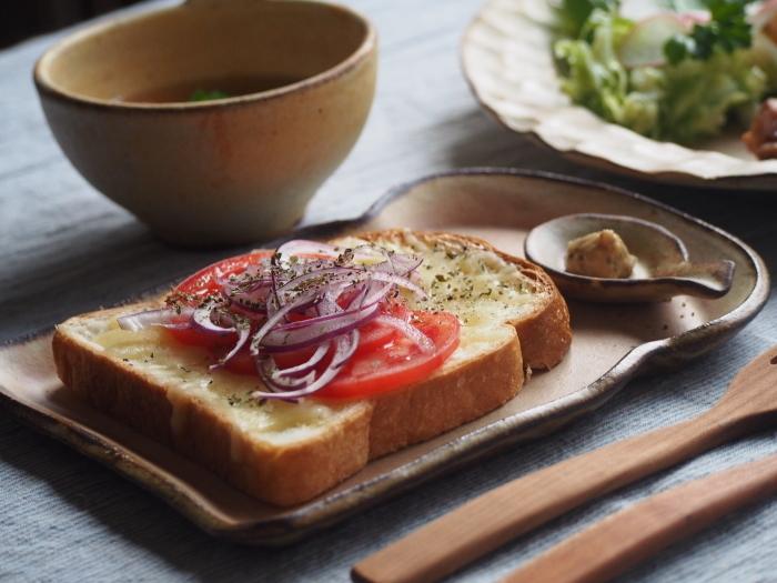 チキンのトマト煮朝ごはん_b0277136_22330121.jpg