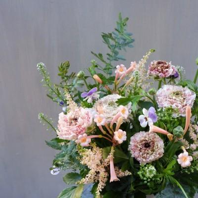 オークリーフ(モロッコエルフードと小花のアレンジメント)_f0049672_23214051.jpg