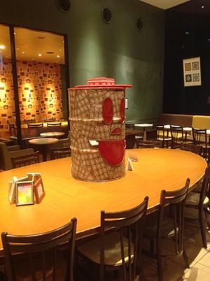 カフェに、チョコっと、ドラムカン。_d0139575_21531908.jpg