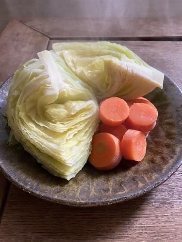 蒸し野菜の朝ごはんと家弁_d0122797_16115231.jpeg