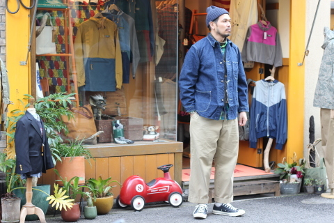 "「orSlow」 ""40\'s COVERALL\"" ご紹介_f0191324_07315995.jpg"