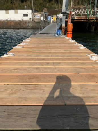 桟橋1、2設置_a0077071_16454537.jpg