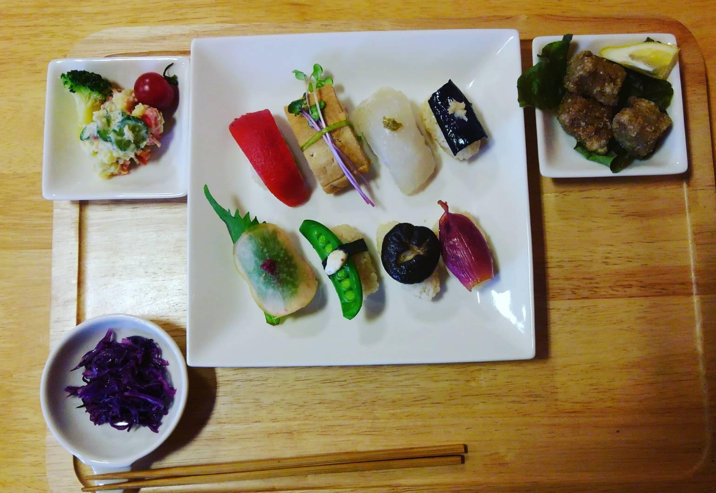野菜の握り寿司の日_b0219977_07050047.jpeg