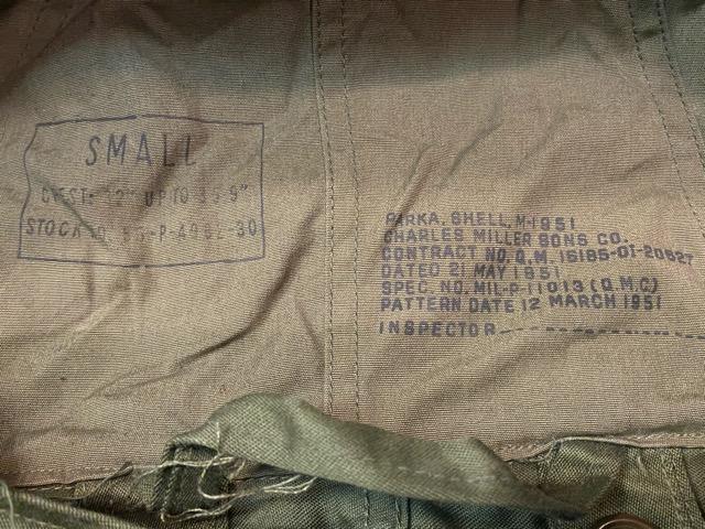 2月5日(水)マグネッツ大阪店ヴィンテージ入荷!!#7 U.S.Army Part2 & NavyCoat編! M-48 FishtailParka & M-51 FishtailParka!!_c0078587_3273057.jpg