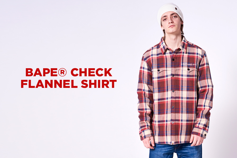 BAPE® CHECK FLANNEL SHIRT_a0174495_14035799.jpg