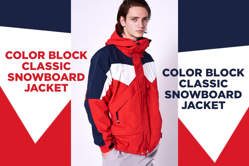 COLOR BLOCK CLASSIC SNOWBOARD JACKET_a0174495_14081362.jpg