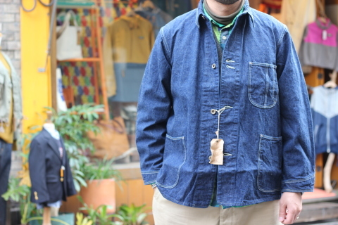 "「orSlow」 ""40\'s COVERALL\"" ご紹介_f0191324_07364354.jpg"