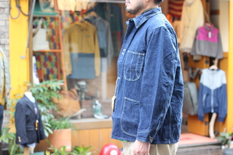 """「orSlow」 \""""40\'s COVERALL\"""" ご紹介_f0191324_07365042.jpg"""