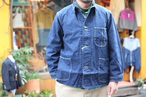 """「orSlow」 \""""40\'s COVERALL\"""" ご紹介_f0191324_07371016.jpg"""