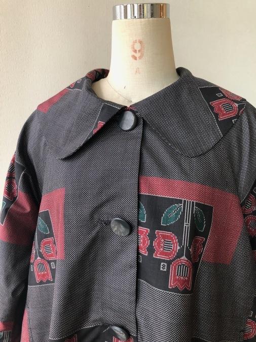 着物着物リメイク・大島から大きな襟のコート_d0127925_15134777.jpg