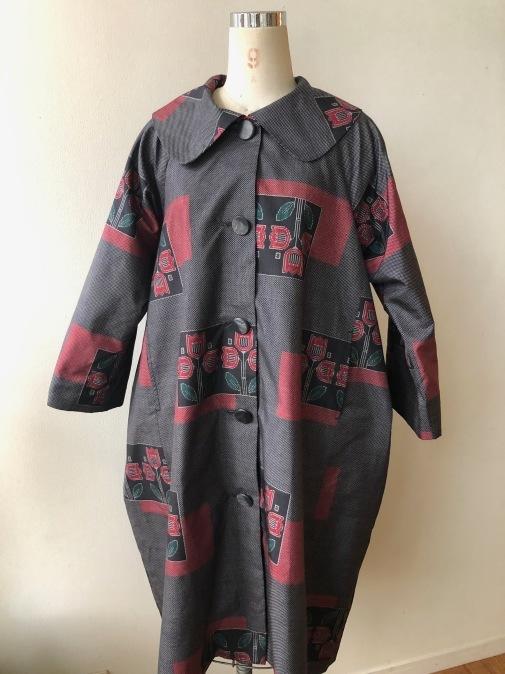 着物着物リメイク・大島から大きな襟のコート_d0127925_15142039.jpg