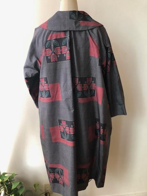 着物着物リメイク・大島から大きな襟のコート_d0127925_15142569.jpg