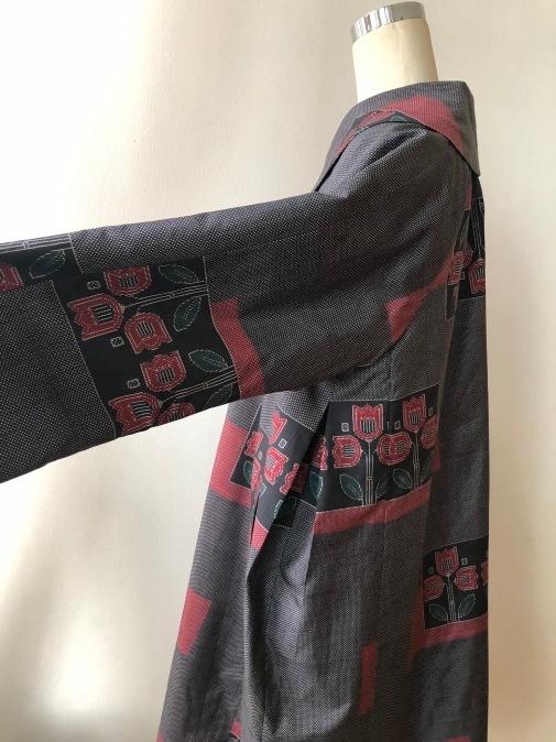 着物着物リメイク・大島から大きな襟のコート_d0127925_15143838.jpg