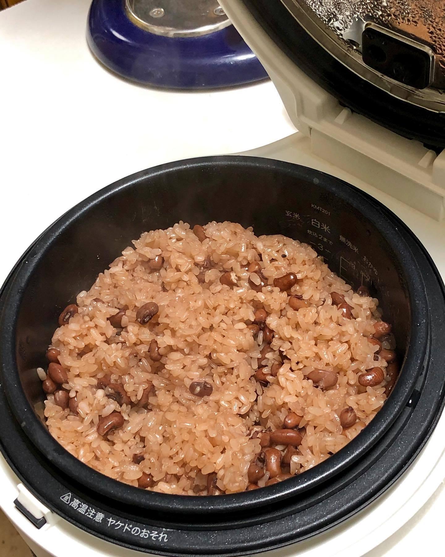 バルミューダの炊飯器で赤飯を炊く_f0134939_10130846.jpg