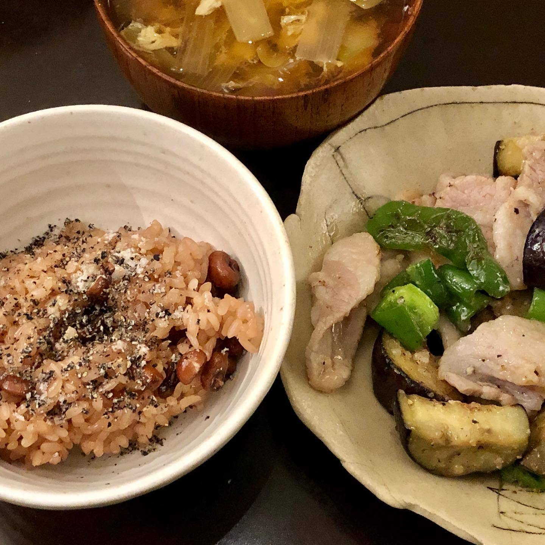 バルミューダの炊飯器で赤飯を炊く_f0134939_10135401.jpg
