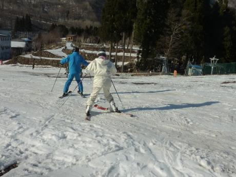 スキーレッスン② ハチ北高原スキー場_c0218841_11075369.jpg