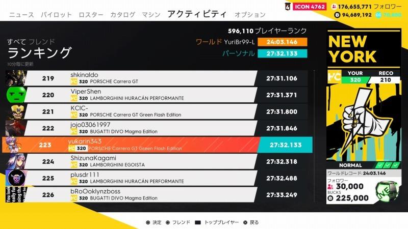 ゲーム「THE CREW2 Veyron Edition One ゲットしてやったぜぇぇぇええ!!!! & New Yorkの記録更新しました」_b0362459_21130143.jpg