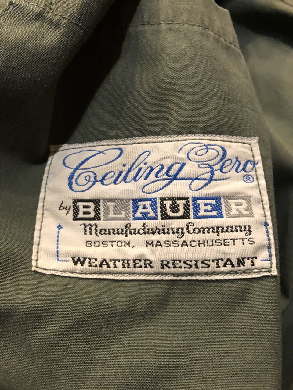 2月6日(木)入荷!60s BLAUER WEATHER RESISTANT JACKET !チンスト付き_c0144020_13203108.jpg