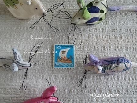 古布(こふ)のねずみと昭和・平成の子年年賀切手_b0255144_17225537.jpg