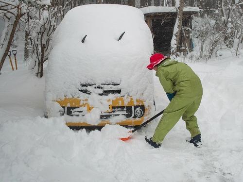針畑雪、来た!・・・除雪ドーザ、ママダンプも出動!_d0005250_16451134.jpg