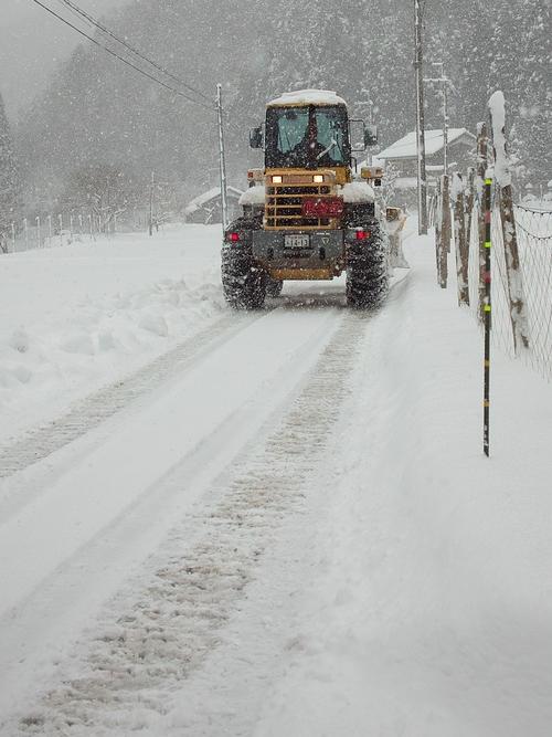 針畑雪、来た!・・・除雪ドーザ、ママダンプも出動!_d0005250_16484927.jpg