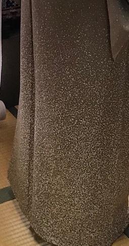 ご来店のお客様・音符道中着・撒き糊着物・藤田織物帯。_f0181251_17304523.jpg