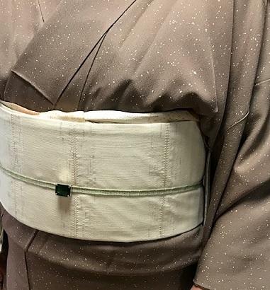 ご来店のお客様・音符道中着・撒き糊着物・藤田織物帯。_f0181251_17325055.jpg
