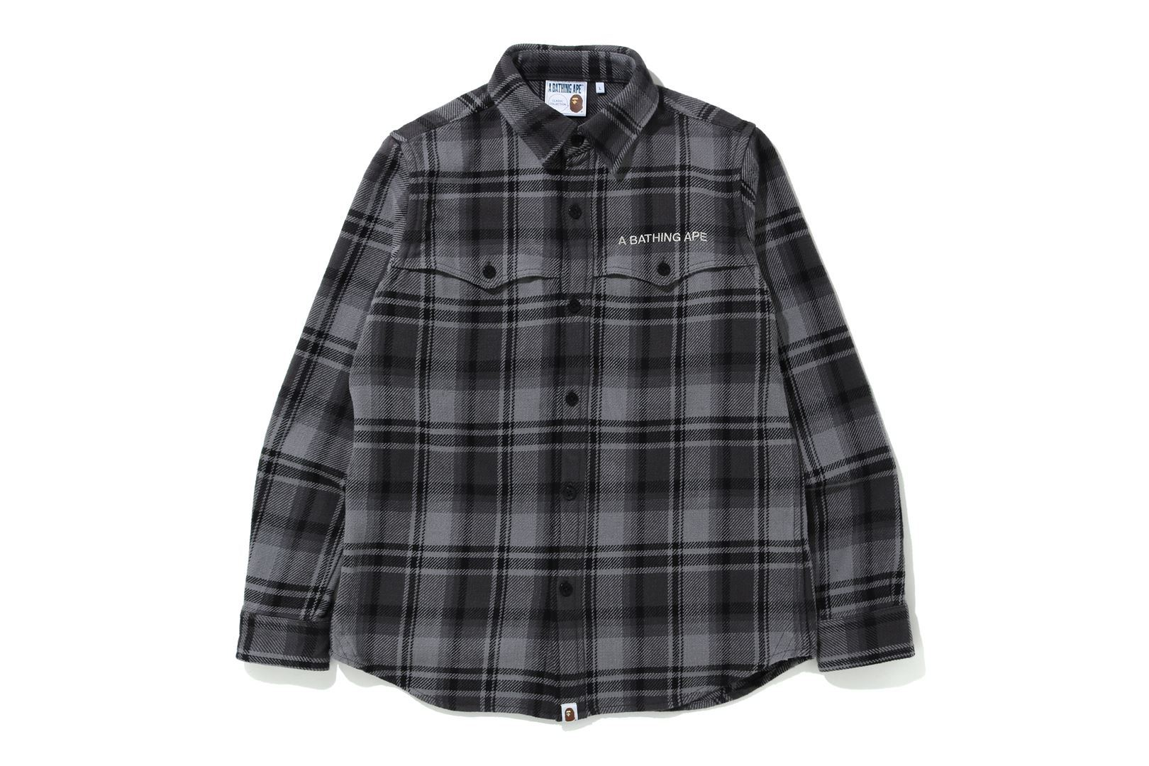BAPE® CHECK FLANNEL SHIRT_a0174495_12554562.jpg