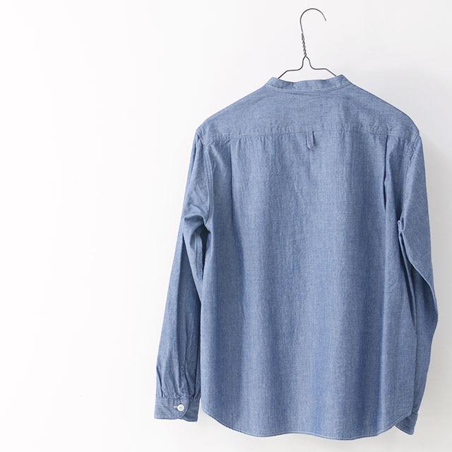 DANTON [ダントン] W\'s L/S CHAMBRAY NO COLLAR SHIRTS [JD-3606COC] ノーカラーシャツ・シャンブレーシャツ・長袖シャツ・レディース・LADY\'S _f0051306_15141417.jpg