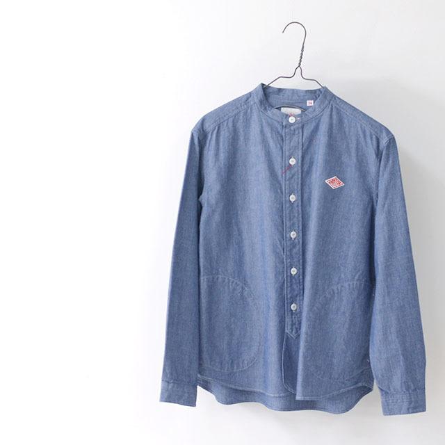 DANTON [ダントン] W\'s L/S CHAMBRAY NO COLLAR SHIRTS [JD-3606COC] ノーカラーシャツ・シャンブレーシャツ・長袖シャツ・レディース・LADY\'S _f0051306_15141479.jpg