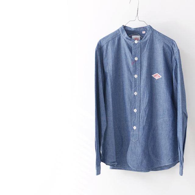 DANTON [ダントン] L/S CHAMBRAY NO COLLAR SHIRTS [JD-3607COC] ノーカラーシャツ・シャンブレーシャツ・長袖シャツ・メンズ・MEN\'S _f0051306_16243727.jpg