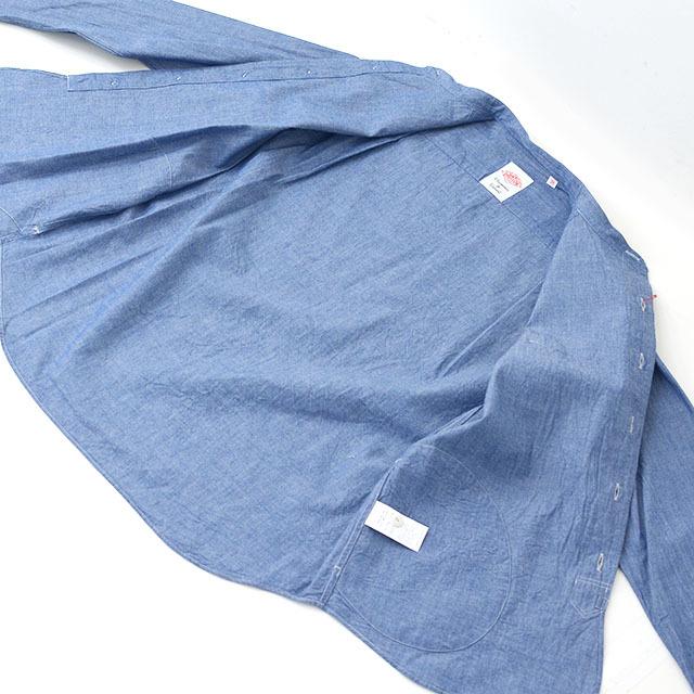 DANTON [ダントン] L/S CHAMBRAY NO COLLAR SHIRTS [JD-3607COC] ノーカラーシャツ・シャンブレーシャツ・長袖シャツ・メンズ・MEN\'S _f0051306_16243763.jpg