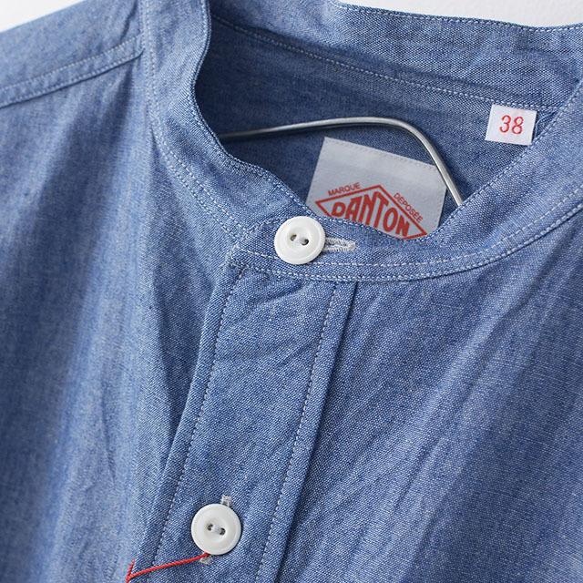 DANTON [ダントン] L/S CHAMBRAY NO COLLAR SHIRTS [JD-3607COC] ノーカラーシャツ・シャンブレーシャツ・長袖シャツ・メンズ・MEN\'S _f0051306_16243764.jpg