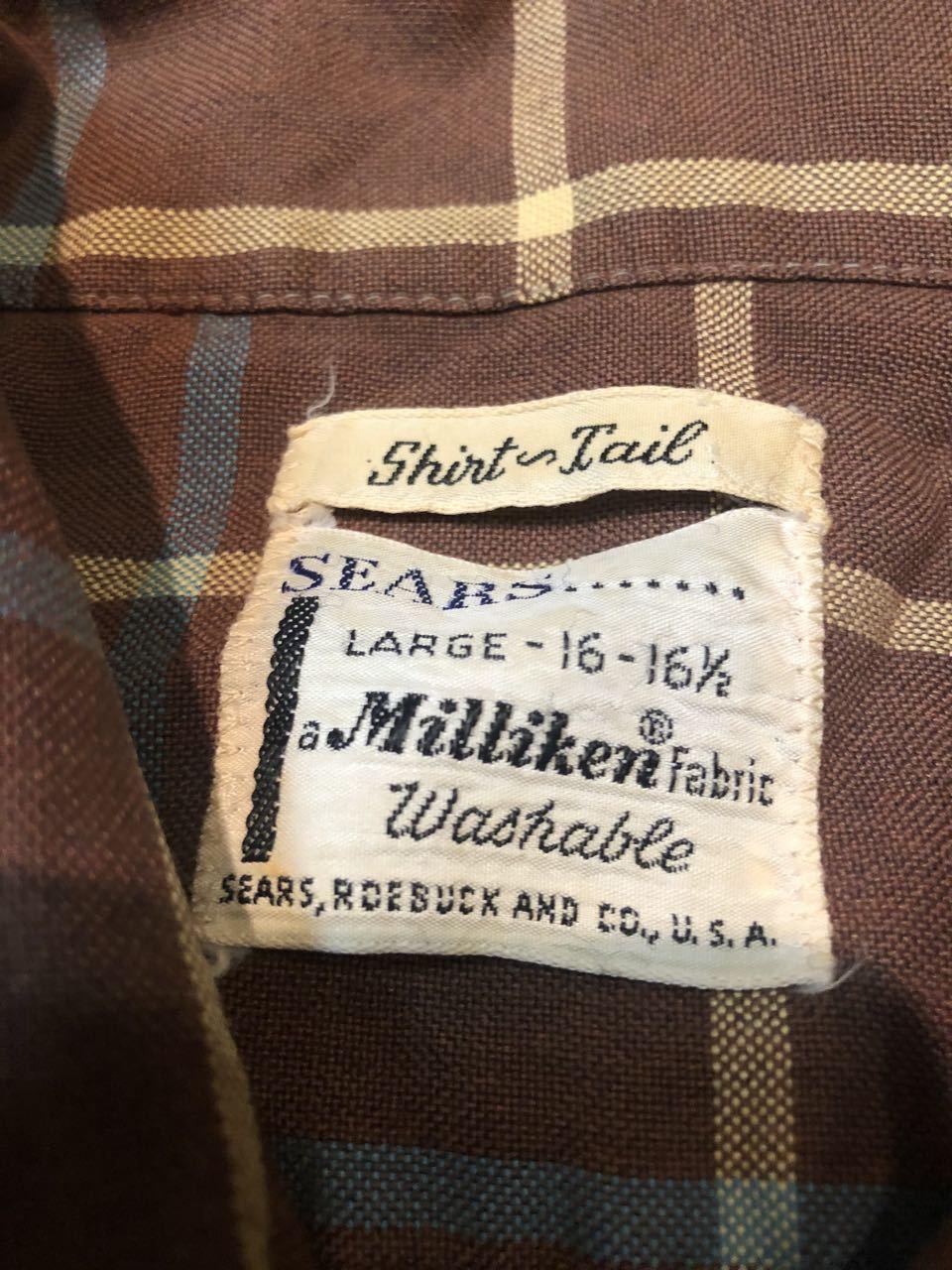 2月8日(土)入荷!60s Sears shirts! _c0144020_13124952.jpg