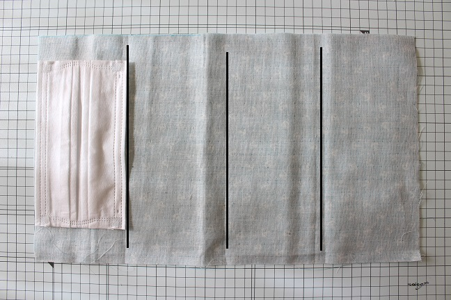 手縫いOK!2か所縫うだけ『使い捨てマスク』を挟んで使えるガーゼマスクの作り方♪_f0023333_22402250.jpg