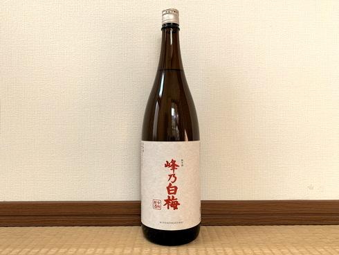(新潟)峰乃白梅 純米酒 / Minenohakubai Jummai_f0111040_08002606.jpg