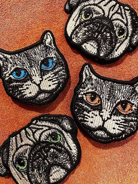 ネコとパグの刺繍ワッペンを作成しました!_e0260759_09260021.jpg