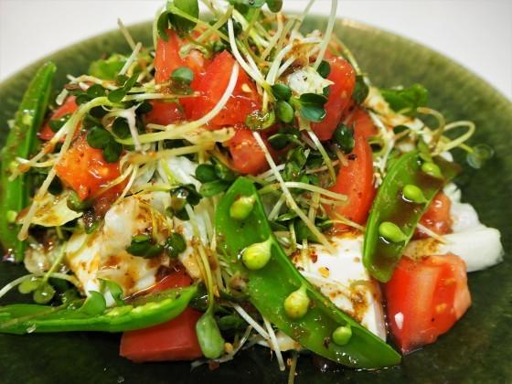 豆腐サラダとスペアリブ_a0258686_06403562.jpg