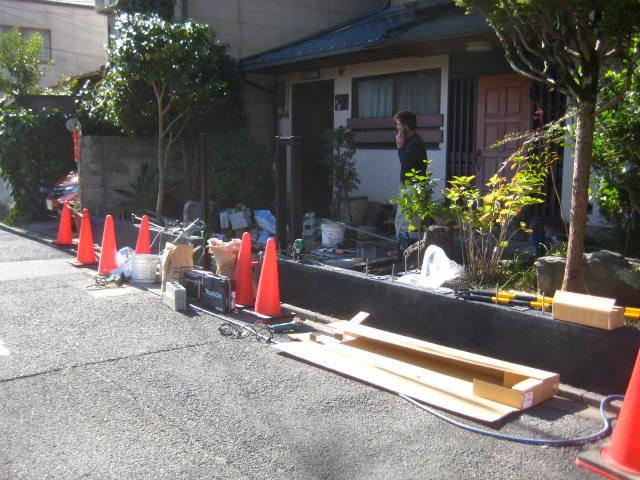 塀工事11 洗出し_e0360218_08144138.jpg